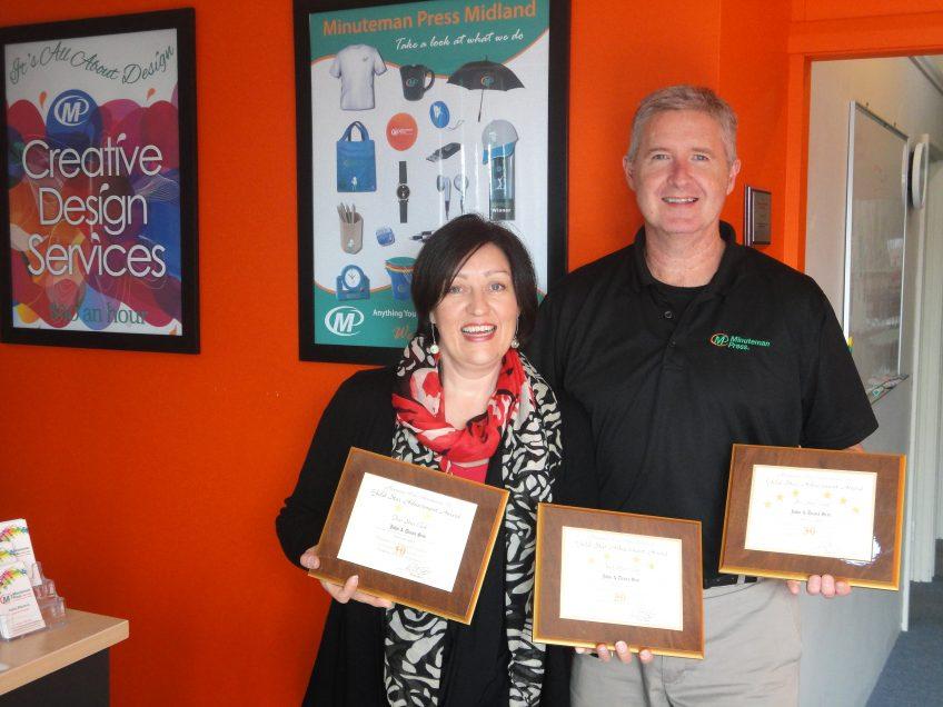 Diana and John Sim, Minuteman Press franchise owners, Midland, Western Australia http://www.minutemanpressfranchise.com.au