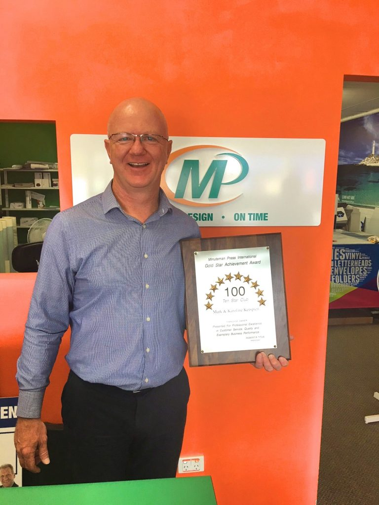 Mark Kerspien, owner, Minuteman Press franchise, Fremantle Western Australia. http://www.minutemanpressfranchise.com.au
