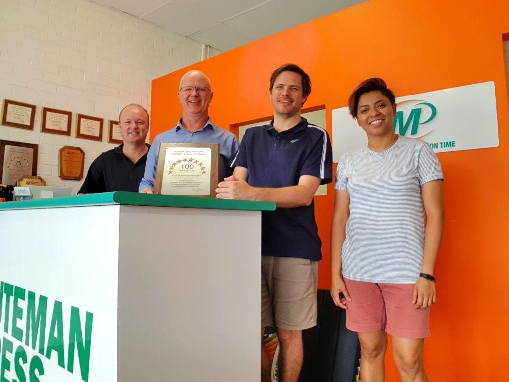 Mark Kerspien with the team of Minuteman Press, Fremantle, Western Australia. http://www.minutemanpressfranchise.com.au