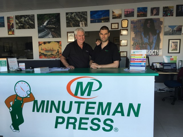 Peter and Simon Kelly, Minuteman Press franchise owners, Balcatta, Perth, Western Australia http://www.minutemanpressfranchise.com.au